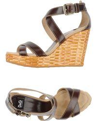 D&G Sandals brown - Lyst