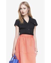 Express Short Sleeve Two Pocket Essential Shirt - Lyst