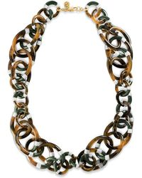 Tory Burch - Stripe Resin Long Necklace - Lyst