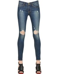 Frame Denim Skinny Destroyed Stretch Denim Jeans - Lyst