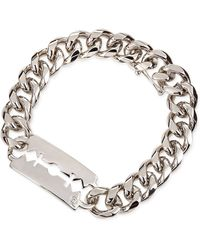 McQ by Alexander McQueen Chunk Chain Large Razor-Blade Id Bracelet - Lyst