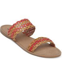 Lucky Brand Women'S Alddon Two-Piece Flat Slide Sandals - Lyst