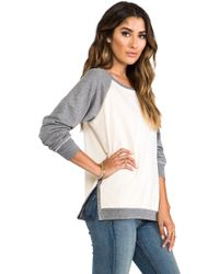 Saint Grace - Cotton Fleece Ansel Contrast Sweatshirt in Cream - Lyst