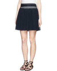 Chloé Guipure Lace Silk Crépon 1970'S Skirt black - Lyst