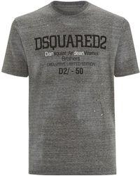 DSquared² Marl Logo T-Shirt - Lyst
