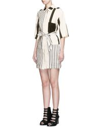 Acne | 'cabell' Variegated Stripe Sash Tie Dress | Lyst