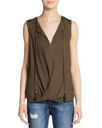 Ella Moss Draped Hi-Lo Top - Lyst