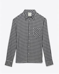 Billy Reid Walland Shirt black - Lyst