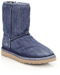 Ugg | Classic Short Denim Boots | Lyst