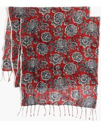 Madewell Italian Floral Scarf red - Lyst