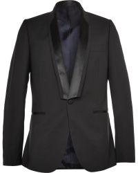Paul Smith Black Slim-Fit Wool-Blend Tuxedo Jacket - Lyst