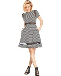 ABS By Allen Schwartz Olivia Stripe Jersey Dress - Lyst