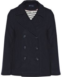 Petit Bateau - Double-Breasted Wool-Blend Peacoat - Lyst