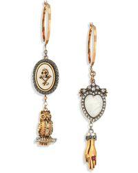 Alexander McQueen | Crystal Charm Drop Earrings | Lyst