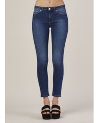 Acne   Used Blue Skin 5 Jeans   Lyst