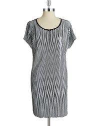 MICHAEL Michael Kors Sequined Zigzag Shift Dress - Lyst