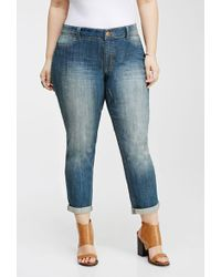 Forever 21 Faded Distressed Jeans - Lyst