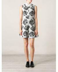 MSGM Floral Print Flared Dress - Lyst