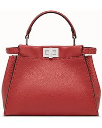 284087258e Fendi Peekaboo Mini in Red - Lyst
