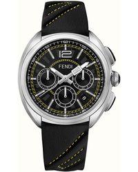 Fendi - Silver & Black Momento Watch - Lyst