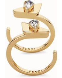 Fendi - Crystal Wonders Rings - Lyst