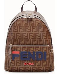 Fendi - Mania Double F Logo Backpack - Lyst