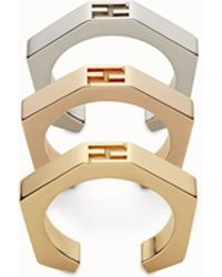 Fendi - Baguette Rings Baguette Rings - Lyst