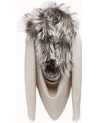 Fendi - Touch Of Fur Shawl Touch Of Fur Shawl - Lyst de6d077189f