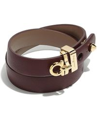 Ferragamo - Gancini Leather Wrap Bracelet - Lyst