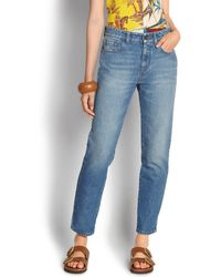 Ferragamo - Stone-wash Denim Jeans - Lyst