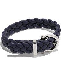 Ferragamo - Woven Gancini Bracelet - Lyst