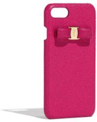 e7b60d8295 Lyst - Ferragamo  vara  Bow Makeup Case in Pink