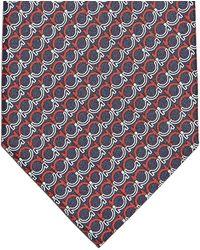 Ferragamo - Gancini Print Tie - Lyst
