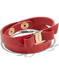 Ferragamo - Vara Bow Wrap Bracelet - Lyst