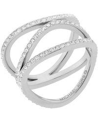 Michael Kors - Silver Metal Ring - Lyst