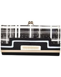 River Island Black and White Check Purse - Lyst