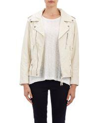 Nili Lotan Wrinkled Leather Moto Jacket - Lyst