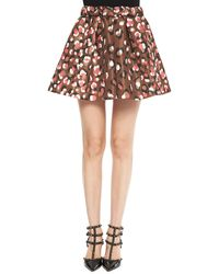 RED Valentino Pop Leo-print Flared Shorts - Lyst