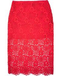 Cynthia Rowley Lace Pencil Skirt - Lyst