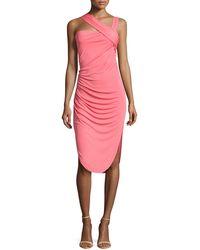 Halston Heritage Asymmetric-strap Dress - Lyst
