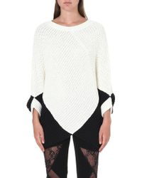 Maje Two-tone Textured Jumper - Lyst