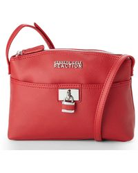 Kenneth Cole Reaction Red Tourist Saffiano Crossbody - Lyst