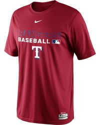 Nike Mens Texas Rangers Authentic Collection Drifit Legend Team Issue Tshirt - Lyst