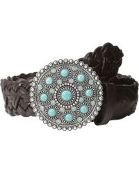 Ariat Turquoise Concho Buckle Braided Belt - Lyst