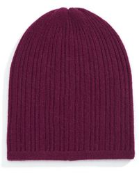 Lord & Taylor - Ribbed Cashmere Beanie - Lyst