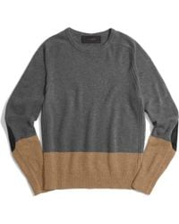 Coach Colorblock Camel Hair Crewneck Sweater - Lyst