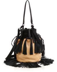 Loeffler Randall Industry Bicolor Tasseled Bucket Bag beige - Lyst
