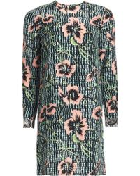 Matthew Williamson Climbing Hibiscus Silk Shift Dress - Lyst