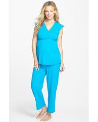 Japanese Weekend - Maternity/nursing Crop Pajamas - Lyst