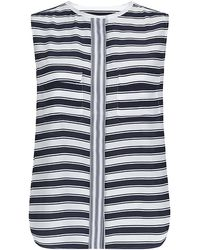 Equipment Admiral Stripe Sleeveless Lynn Shirt - Lyst